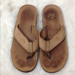 North Face Men's Leather Fit Flops Sandals Sz 10